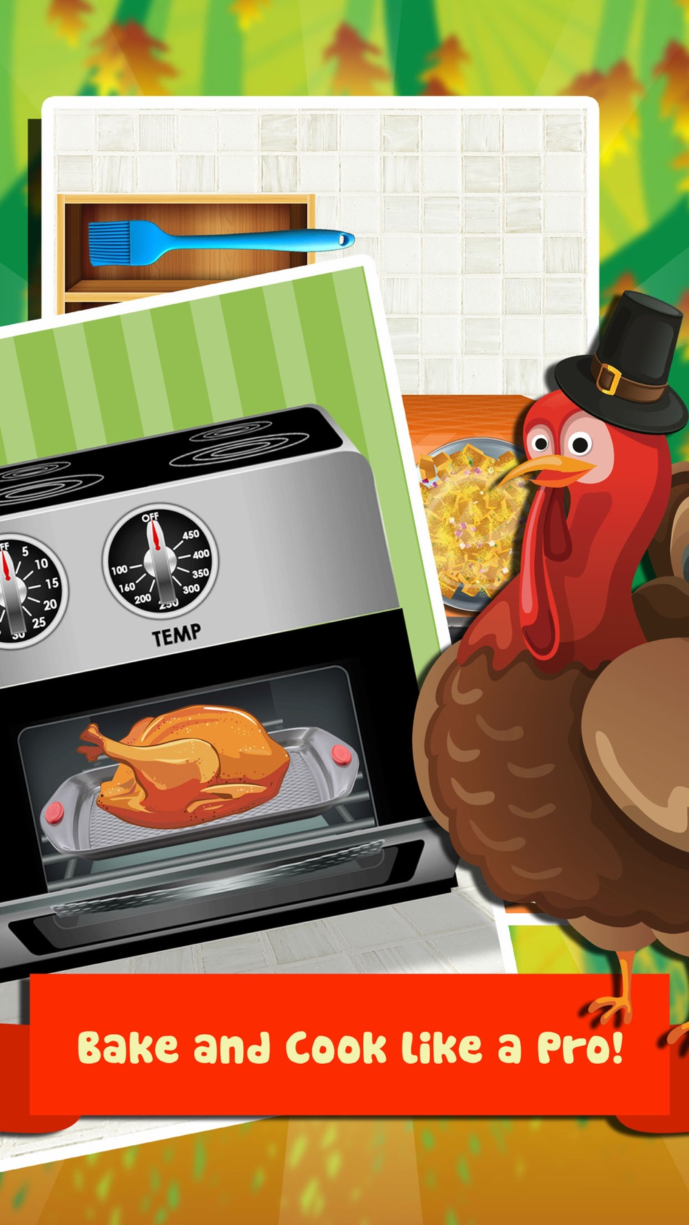 Thanksgiving Dinner Food Maker Salon - fun lunch cooking & making games for kids 2 (boys & girls) hack tool