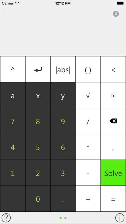 Tiger Algebra Solver and Calculator