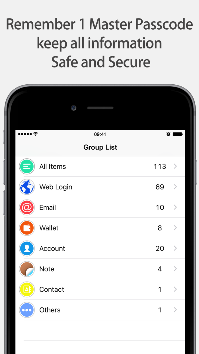 Lock Password Manager safe App Screenshot