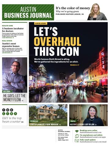 Screenshot of Austin Business Journal
