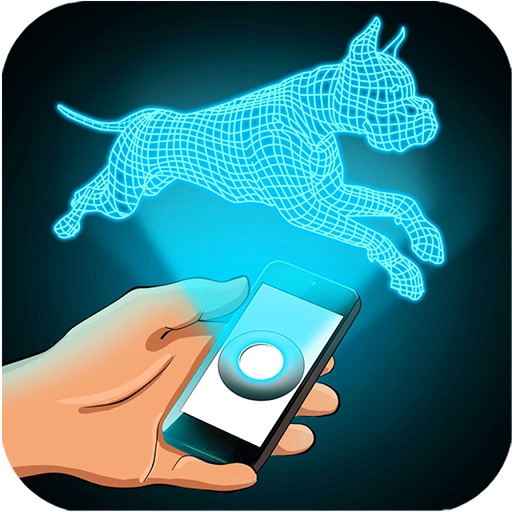 Hologram Dog 3D Simulator iOS App