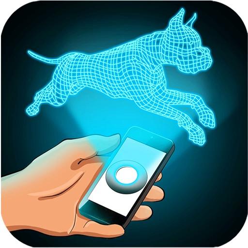 Голограмма Собаки 3D Симулятор