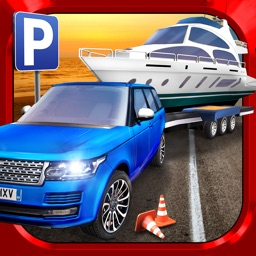 RV & Boat Towing Parking Simulator Real Road Car Racing Driving