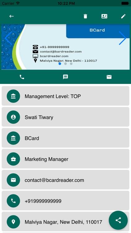 BCard Business Card Reader screenshot-4