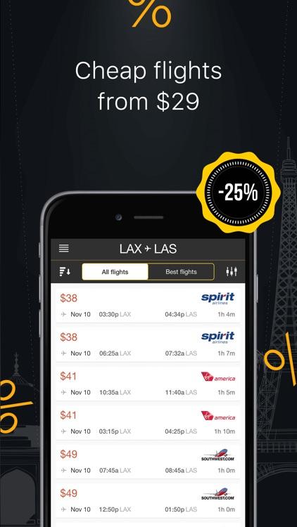 Great Flight Deals, Cheap Flights & Best Airfare screenshot-3
