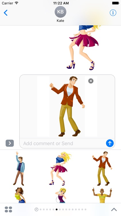 Dance Party Stickers
