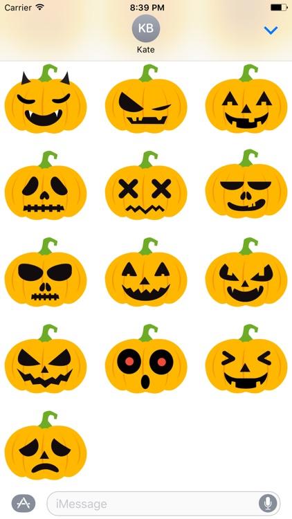 Pumpkin Halloween Emoji Sticker #1