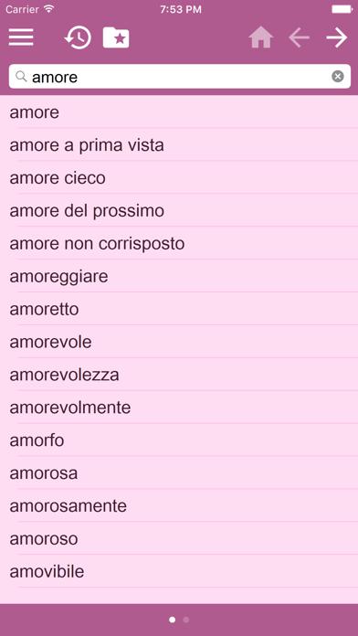 English Italian Dictionary screenshot three