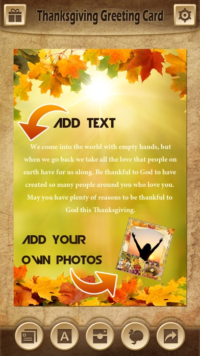 Holiday Greeting Cards FREE - Mail Thank You eCards & Send Wishes for American Thanksgiving Day screenshot four