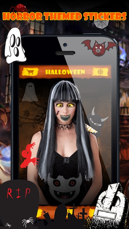 Halloween Emoji Stickers - Face Photo Makeup Games screenshot-4