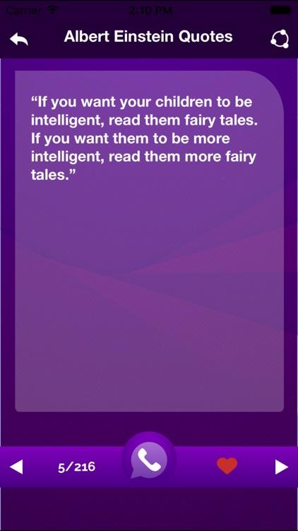 Albert Einstein motivational Quotes and Biography screenshot-3