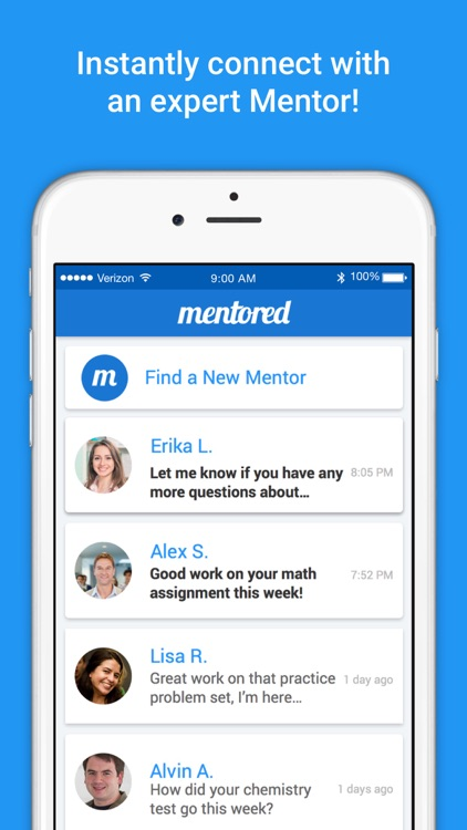 Mentored — On-Demand Live Tutor Help; Math & More