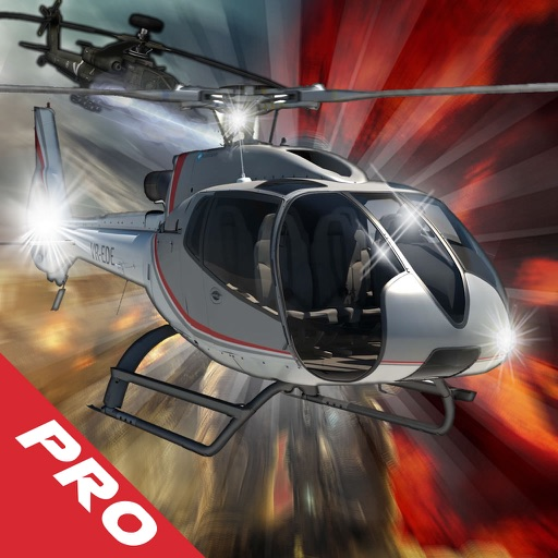 A Flames In Propeller Copter Pro - A Helicopter Hypnotic X-treme Game
