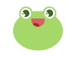 Emoji stickers of the friendly frog