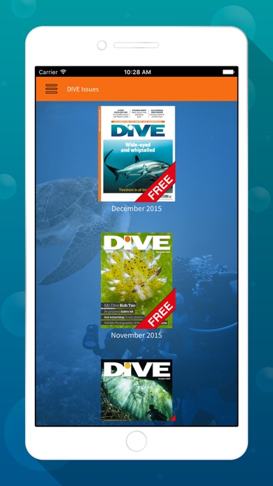 Dive Magazine review screenshots