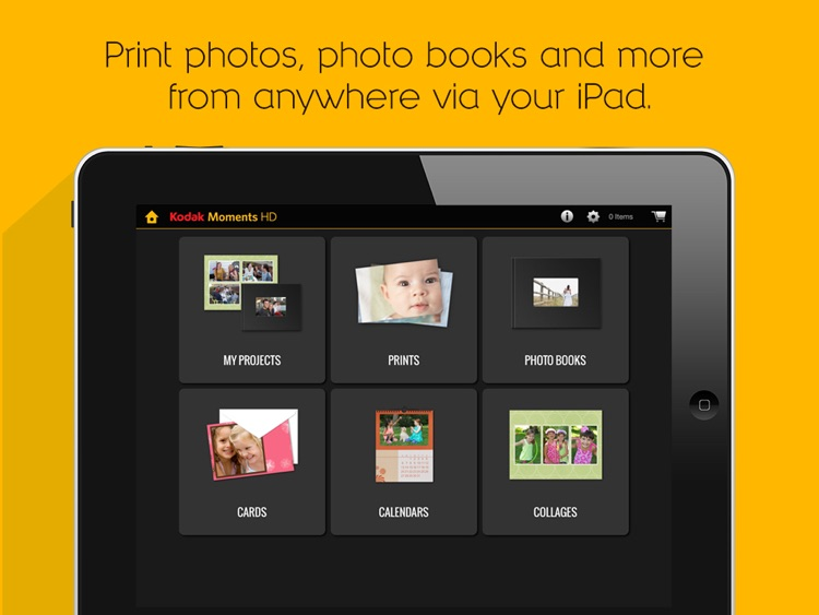 KODAK MOMENTS HD Tablet App.