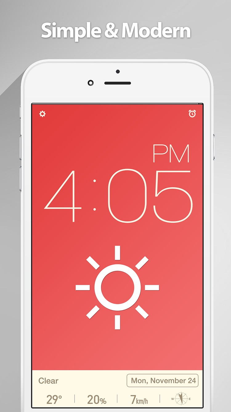 Red Clock. Screenshot