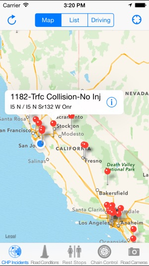 California Road Report On The App Store - California road map