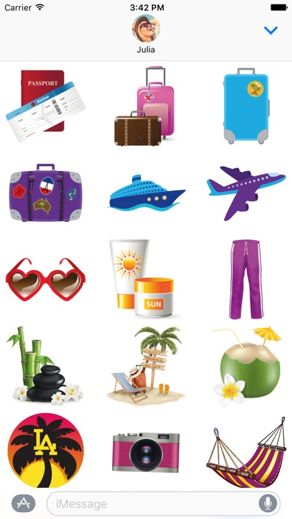 Travel Stickers – Holiday Greetings for iMessage screenshot-3
