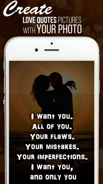 Love quotes on your Photo. Filters for Snapchat