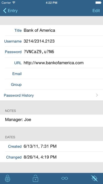 pwSafe 2 - Password Safe screenshot-3