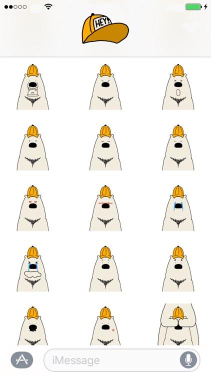 Polar Bear faces sticker