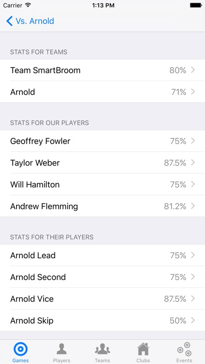 CurlBook - Curling Coaching Stats screenshot-3