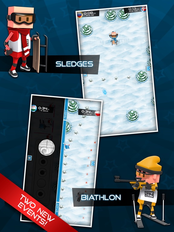 Screenshot #1 for Flick Champions Winter Sports