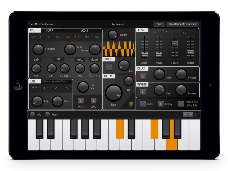 Digital Piano Sound Synthesizer: Advance Midi  Melody Full-Features iPad App
