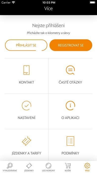 Screenshot of Leo Express App