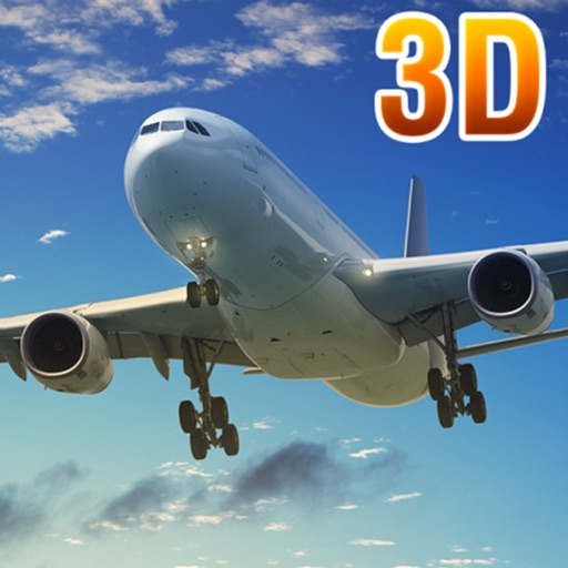 Real Airport Flight Airplane Sim 3D Simulator