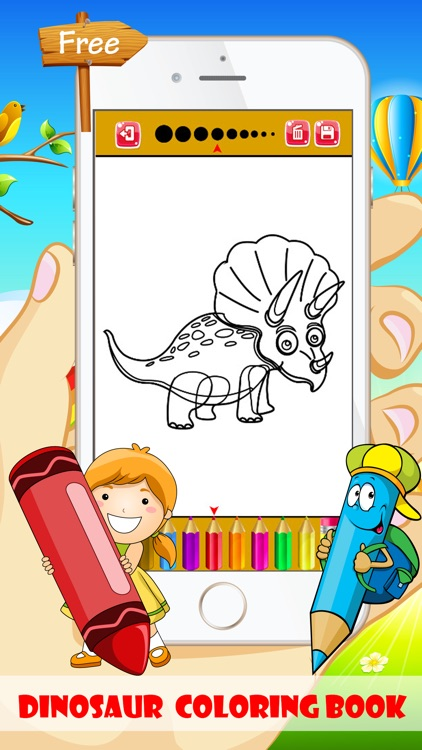 Dinosaur Coloring Book - Free For Toddler And Kids