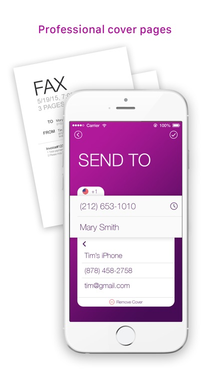Tiny Fax - send fax from iPhone screenshot-3