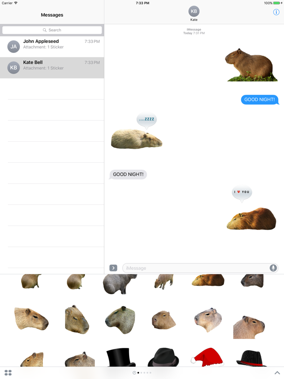 Capybara Stickers for iMessage | App Price Drops