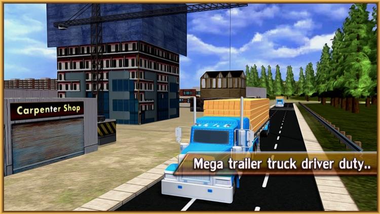 Wood Transporter Truck – Cargo Trailer Driving screenshot-3
