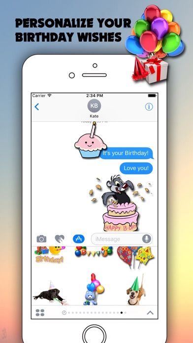 Screenshot 6 For Top 100 Birthday Stickers Emoji