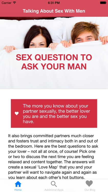 Sex Questions To Ask Men