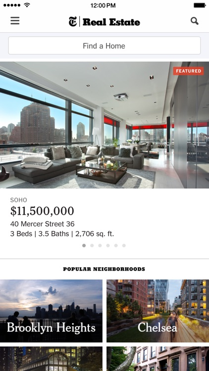 New York Times Real Estate screenshot-0