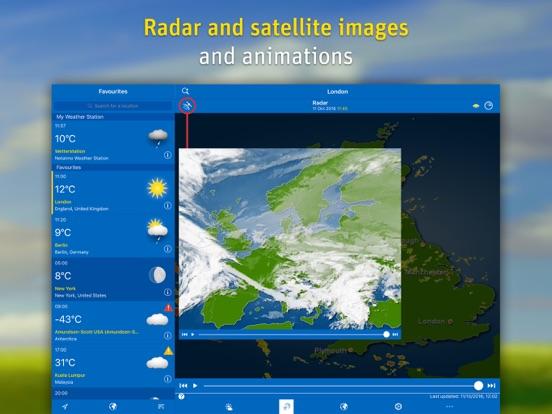 WeatherPro voor iPad iPad app afbeelding 3