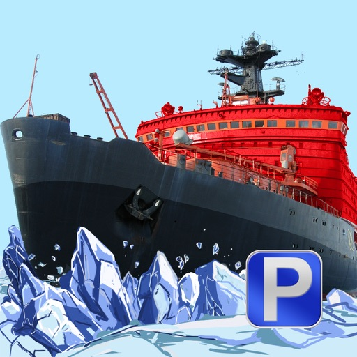 3D Icebreaker Parking - Arctic Boat Driving & Simulation Ship Racing Games