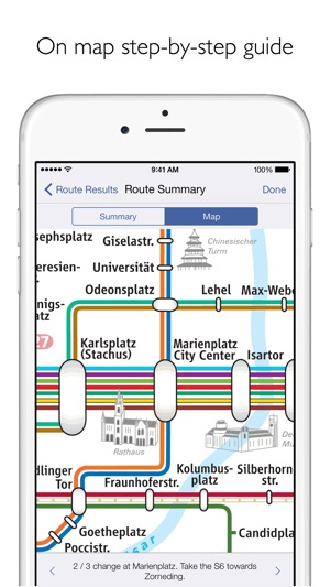 Munich Metro MVG map and route planner on the App Store