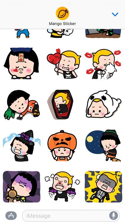 Happy Halloween with MiM! - Mango Sticker