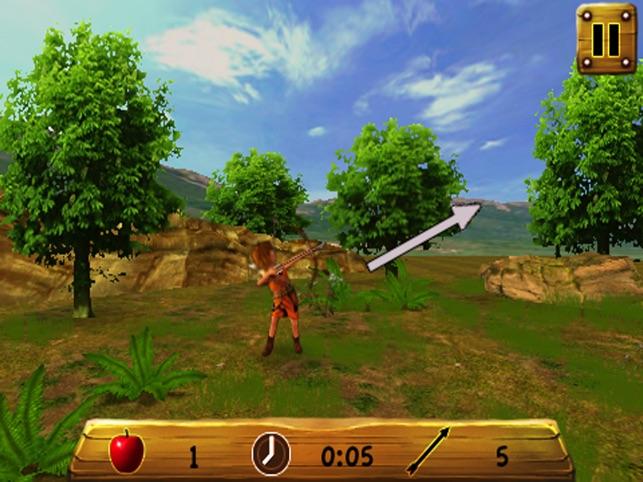 die apple - 3d - bogenschießen schießen kostenlos Screenshot