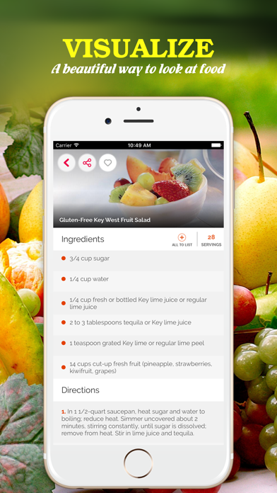 Yummy Fruit Recipes ~ Best of delicious fruit recipes screenshot two