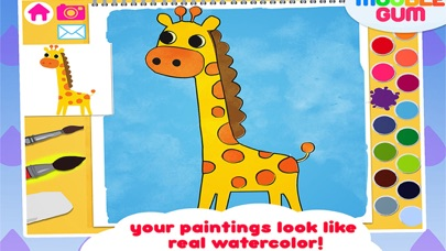 animal coloring book & Art Studio - painting app for children  - learn how to paint cute jungle animalsのおすすめ画像2