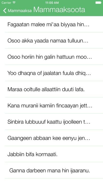 Oromo Proverbs - Mammaaksa Afaan Oromoo by Mohammed Dawued Mohammed