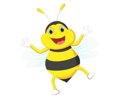 A cute animated bee