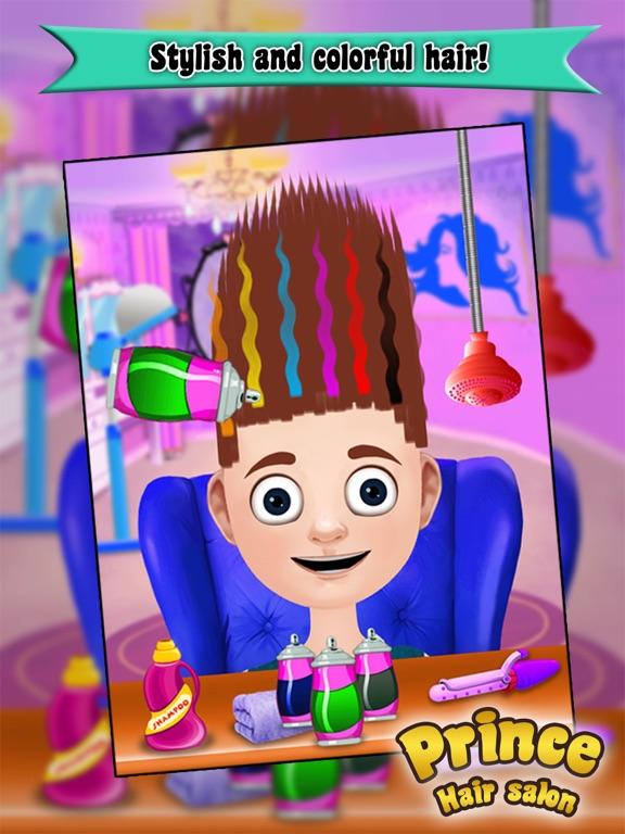 Prince Hair Salon: Hair salon games for girls-ipad-1