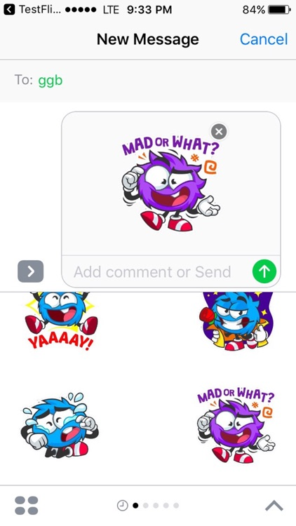 Blue Bomb Stickers For iMessage