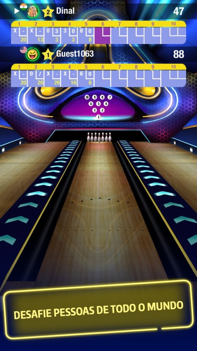 Foto do Central do Boliche - On-line multijogador, Puzzle, Torneios, Apple TV apoio, Livre jogo! (Bowling Central)